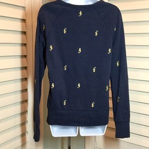 Lilly Pulitzer Tops - Lilly Pulitzer Navy Seahorse Sweatshirt, S, EUC